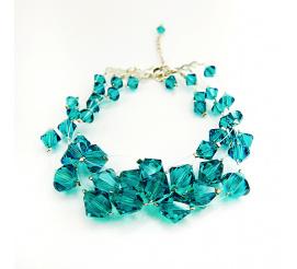 Urocza bransoletka z kryształami Swarovski Elements w wyjątkowych odcieniu  Blue Zircon z kolekcji Casual