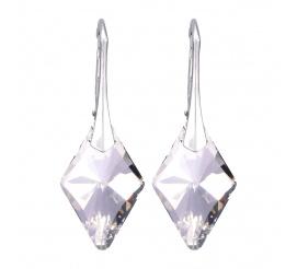 Srebrne, olśniewające kolczyki wykonane z kryształów Swarovski Elements o barwie Silver Shade  - kolekcja ślubna