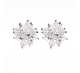 Zachwycające kolczyki stworzone z kryształów i pereł Swarovski ELEMENTS - kolekcja ślubna