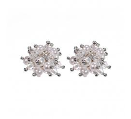 Efektowne kolczyki stworzone z kryształów i pereł Swarovski ELEMENTS - kolekcja ślubna