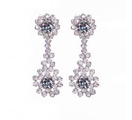 Zachwycająca para kolczyków z kryształami Swarovski ELEMENTS w odcieniu Crystal - kolekcja ślubna