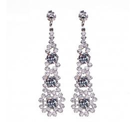 Olśniewqająca para kolczyków z kryształami Swarovski ELEMENTS w odcieniu Crystal - kolekcja ślubna