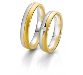 Męska obrączka ślubna z dwóch kolorów złota - kolekcja Rainbow
