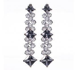 Pełna blasku para kolczyków z kryształami Swarovski ELEMENTS w odcieniu Crystal - kolekcja ślubna