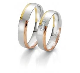Pełna blasku damska złota obrączka ślubna z brylantem z kolekcji Rainbow