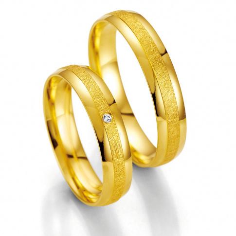 Ponadczasowa męska obrączka ślubna z żółtego złota 14K firmy Breuning
