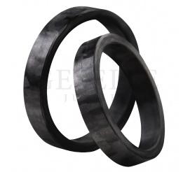 Ultranowoczesne i niepowtarzalne obrączki ślubne wykonane z czarnego karbonu