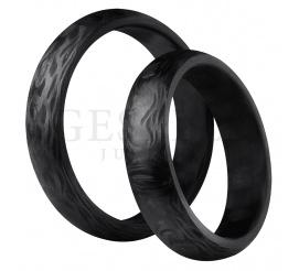 Ultranowoczesny duet obrączek ślubnych, który powstał z włókna węglowego - karbonu