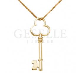 Oryginalna zawieszka kluczyk o symbolicznym znaczeniu, wykonana ze złota próby 585, idealna na prezent!