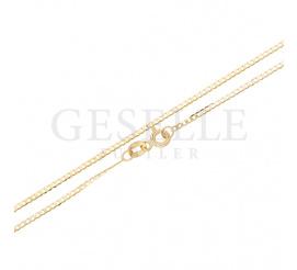 Elegancki łańcuszek o klasycznym splocie pancerka z żółtego złota - długość 50 cm