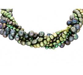 Zachwycający naszyjnik wykonany z pereł hodowlanych o wspaniałych kolorach