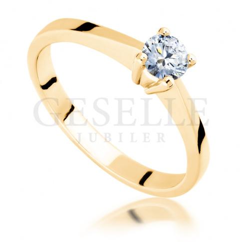 Olśniewający pierścionek z żółtego złota z wyjątkowym brylantem o masie 0.25 ct