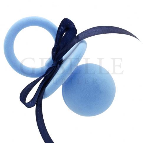 Niezwykłe opakowanie na biżuterię - niebieski smoczek z ozdobną wstążką