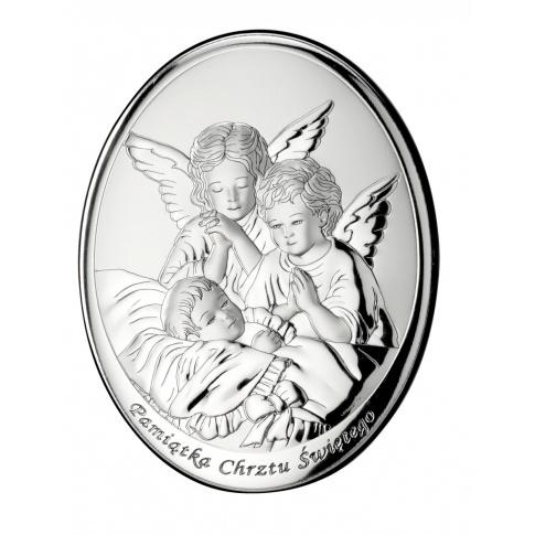 Obrazek srebrny - doskonały pomysł na podarunek z okazji Chrztu Świętego