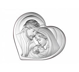 Wyjątkowy obrazek sakralny ze srebra przedstawiający Świętą Rodzinę