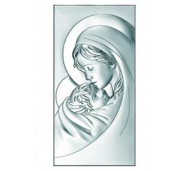 Obrazek srebrny - Madonna z dzieciątkiem