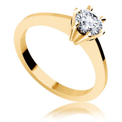 Wspaniała kompozycja lśnienia i elegancji - pierścionek zaręczynowy z brylantem 0.45 ct