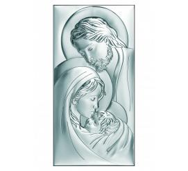 Srebrny obrazek sakralny z wizerunkiem Świętej Rodziny