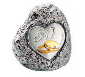 Jubileuszowa figurka skałka - podarunek z okazji 50-lecia ślubu