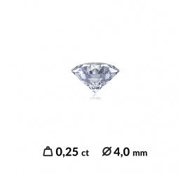 Zjawiskowy diament o szlifie brylantowym 0,25 ct SI2/G z certyfikatem międzynarodowym (HRD, IGI,GIA)