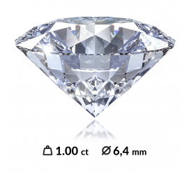 Niezwykły diament o szlifie brylantowym z międzynarodowym certyfikatem HRD, IGI, GIA - 1,00 ct SI1/I