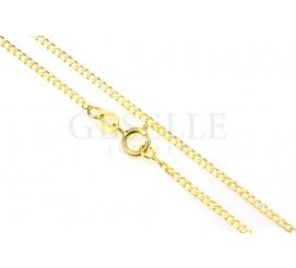 Elegancki łańcuszek pancerka z żółtego złota o długości 50 cm
