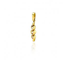 Czarująca zawieszka z trzema brylantami w żółtym złocie