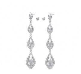 Delikatne i eleganckie kolczyki z kolekcji ślubnej z kryształami Swarovski