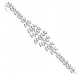 Piękna, błyszcząca oraz zwysłowa bransoletka srebrna wykonana z kryształków SWAROVSKI