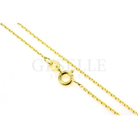 Popularny złoty łańcuszek o splocie ankier i długości 45 cm - żółte złoto próby 585