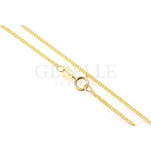 Najpiękniejszy złoty łańcuszek próby 585, długość 45 cm, splot lisi ogon