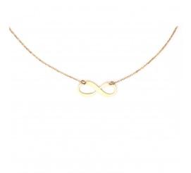 Zjawiskowy złoty łańcuszek celebrytka z motywem nieskończoności , próby 585
