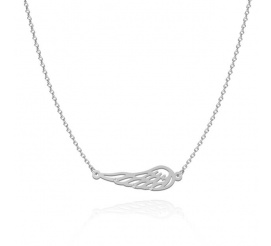 Srebrny naszyjnik skrzydło z trzema cyrkoniami