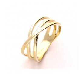 Wyjątkowy pierścionek z żółtego złota próby 585 pleciony