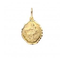Medalik z żółtego złota próby 585 - Szkaplerz dwustronny