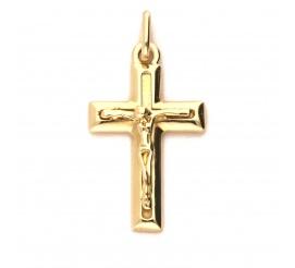 Krzyżyk wykonany z żółtego złota próby 585