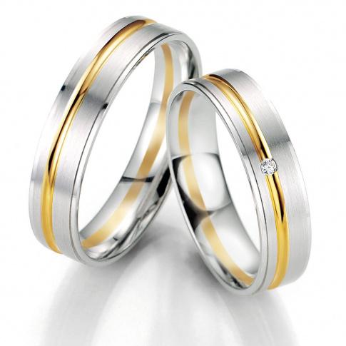 Stylowa para obrączek ślubnych z dwóch barw kruszcu pełna klasy i szyku