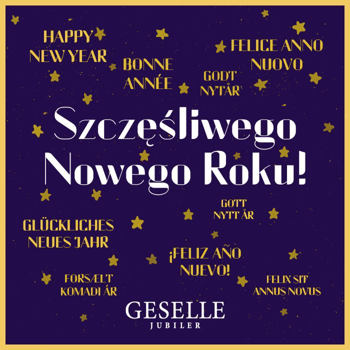 Życzenia od zespołu GESELLE Jubiler na Nowy Rok 2016!
