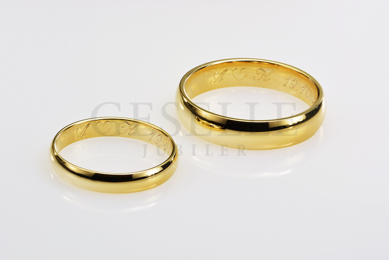 f079d665aec0 Grawer na obrączkach ślubnych - inicjały i data od GESELLE Jubiler