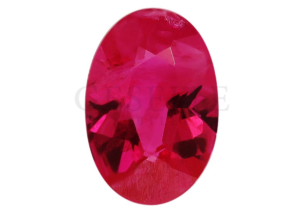 Naturalny rubin o wspaniałej malinowej barwie