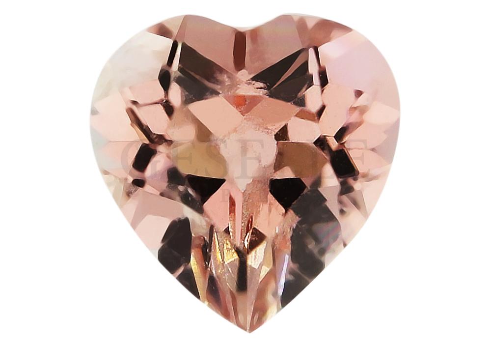 Niezwykły kamień szlachetny - turmalin - w kształcie serca - GESELLE Jubiler