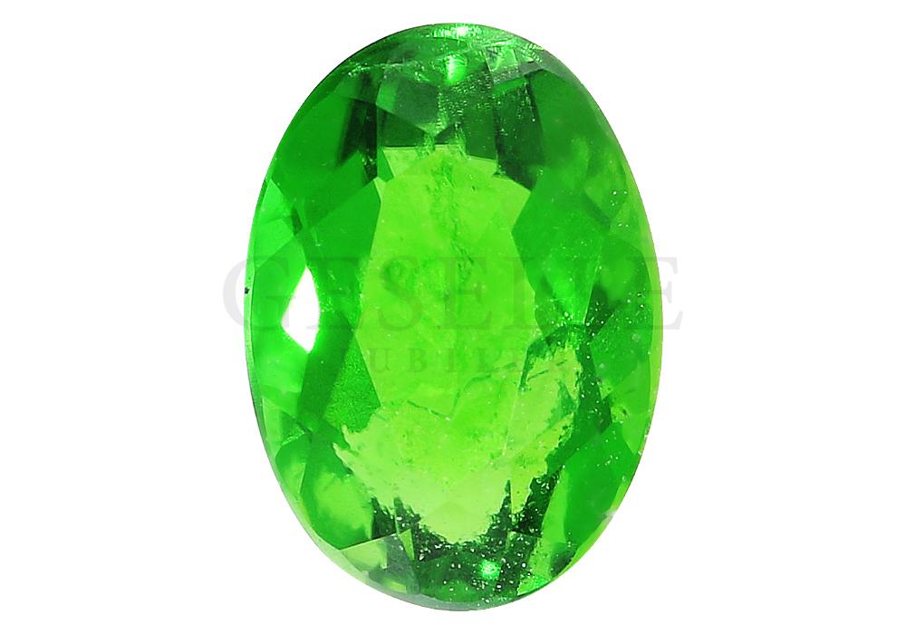 Unikatowy kamień szlachetny - diopsyd - o zielonej barwie - GESELLE Jubiler