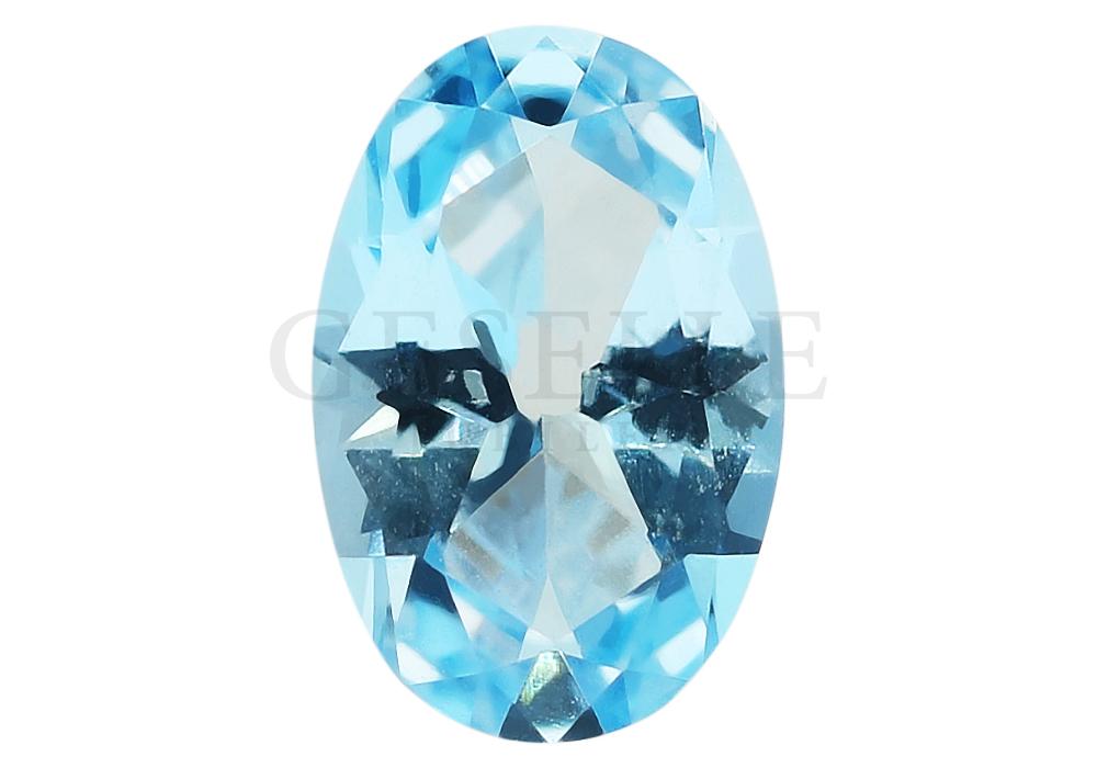 Wspaniały topaz swiss naturalny o błękitnej barwie