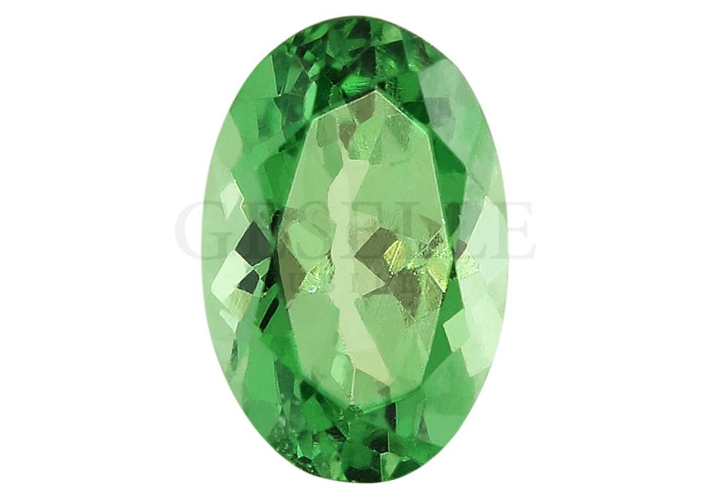 Tsavoryt naturalny o wspaniałej zielonej barwie