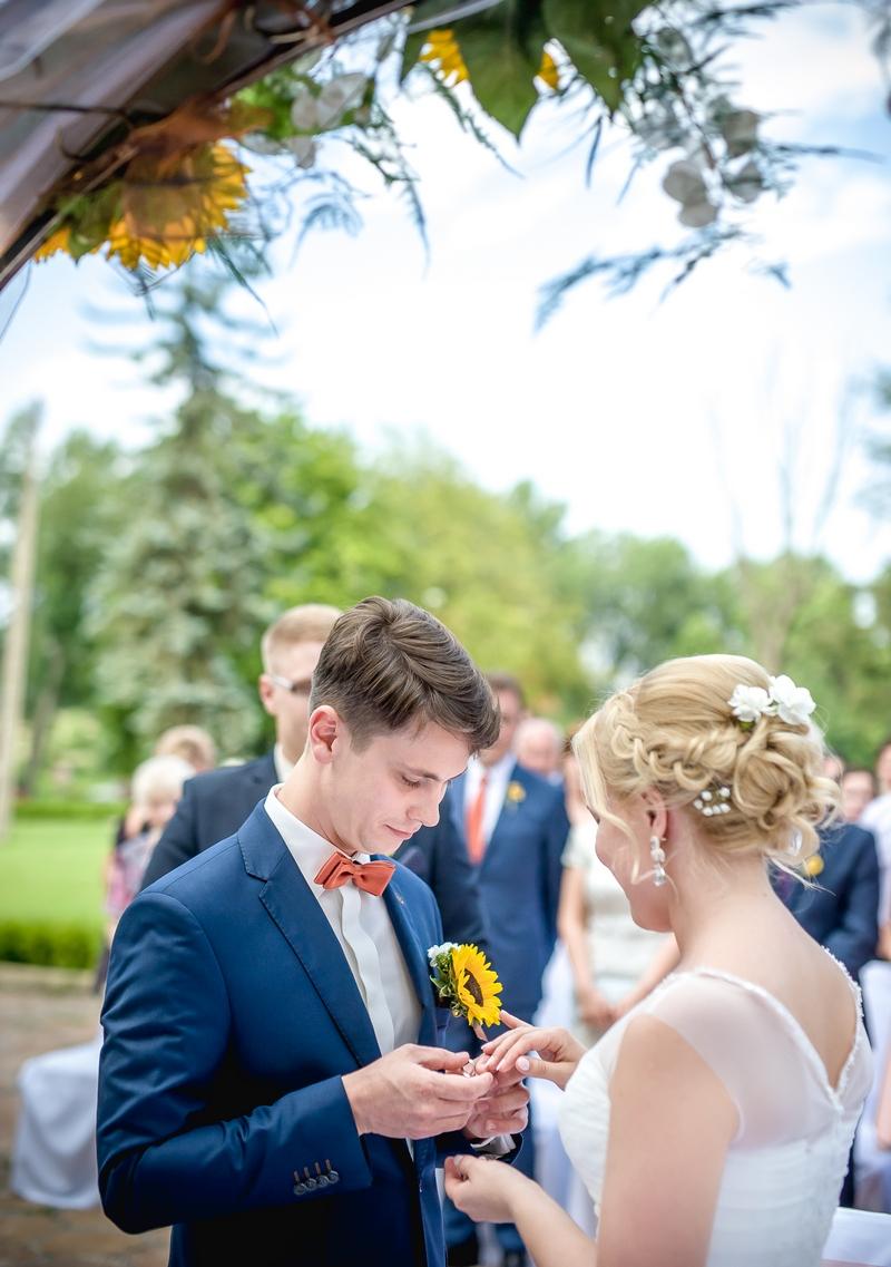 Pamiątkowa fotografia ze ślubu Pauliny i Bogusza - Klientów GESELLE Jubiler
