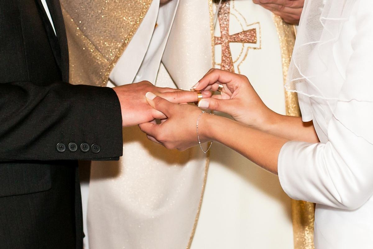 Pamiątkowa fotografia ze ślubu Antoniny i Tomasza